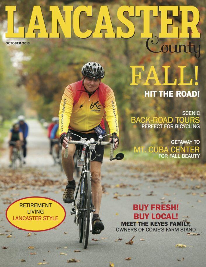 Cycling Lancaster County Magazine Cover Jordan Bush Photography